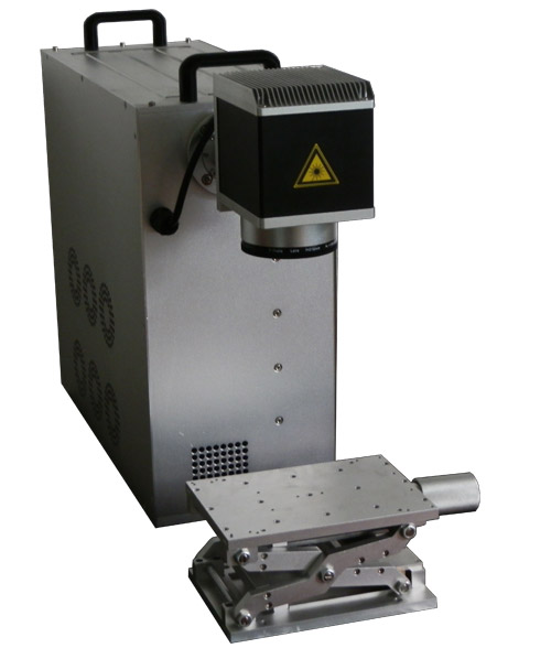 激光打标机生产现场